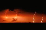 Lightning Bolts over Chesapeake Bay, Maryland