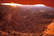 Mesa Arch at Sunrise, Canyonlands National Park,